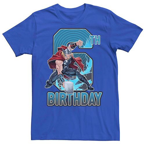 Men's Marvel's Thor 6th Birthday Tee