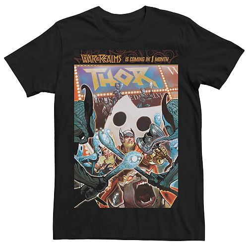 Men's Marvel's Thor Attack Of The Dark Elves Comic Cover Tee