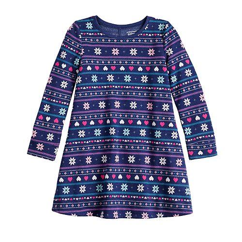 Girls 4-12 Jumping Beans® Fleece Swing Dress