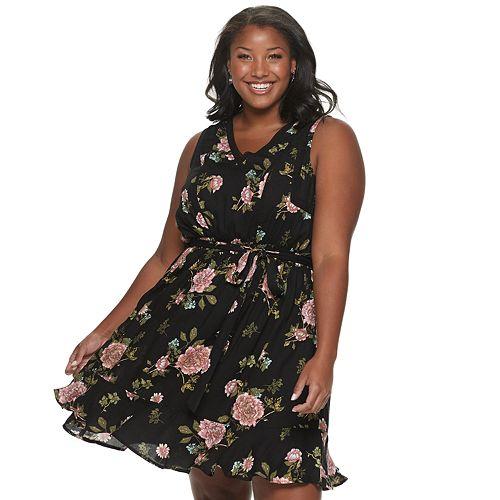 Juniors' American Rag Sleeveless Flounce Dress