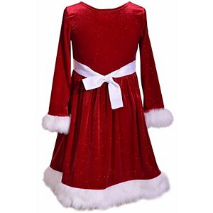 Girl's 7-16 Bonnie Jean Sequin Sparkle Velvet Dress