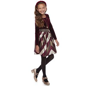 Girl's 7-16 Bonnie Jean Mitred Skirt and Necklace