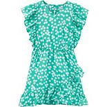Girls Carter's Daisy Faux Wrap Dress
