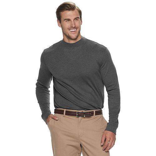 Big & Tall Croft & Barrow® Extra Soft Interlock Mock Neck