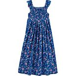 Girls Carter's Floral Smocked Dress