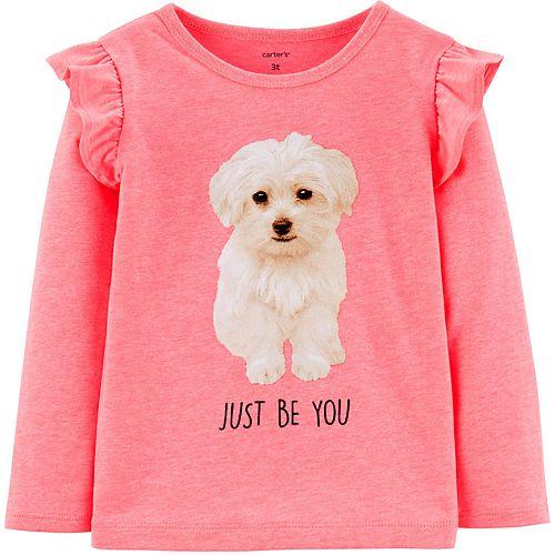Toddler Girl Carter's Neon Dog Jersey Tee