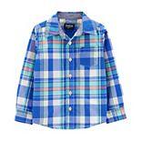 Toddler Boy OshKosh B'gosh® Plaid Button-Front Shirt