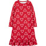 Girls 4-14 Carter's Heart Fleece Nightgown