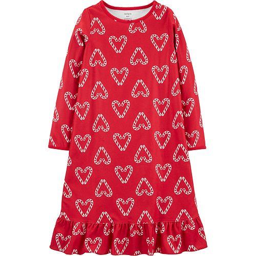 Girls 4-14 Carter's Heart Fleece Nightgown