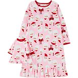 Girls 4-14 Carter's Santa Matching Nightgown & Doll Nightgown Set