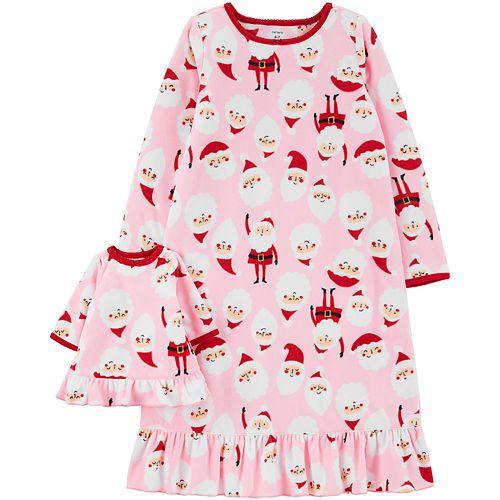 Girls 4-14 Carter's Santa Matching Nightgown & Doll Nightgown Set