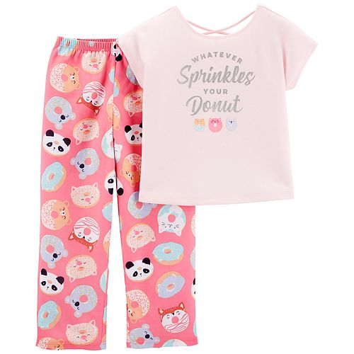 "Girls 4-14 Carter's ""Sprinkles & Donut"" Top & Bottoms Pajama Set"