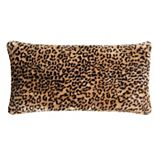 Christian Siriano Tahiti Cheetah Faux Fur Decorative Pillow
