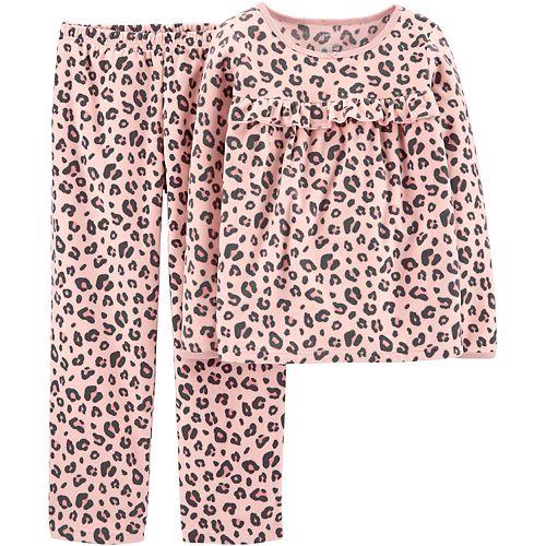 Girls 4-14 Carter's 2-Piece Leopard Print Fleece Pajamas