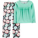 Girls 4-14 Carter's Floral Fleece Top & Bottoms Pajama Set