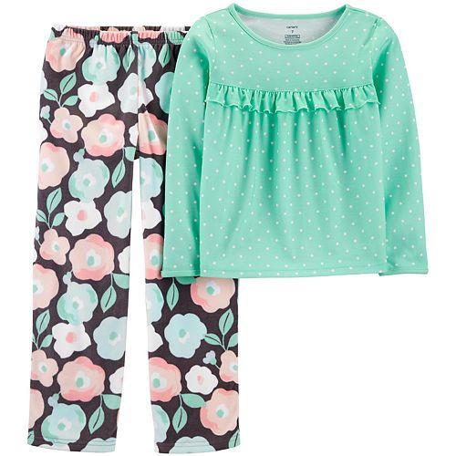 Girls 4-14 Carter's Floral Fleece Top & Bottoms Pajama Set