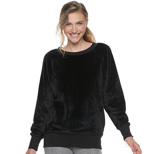 Juniors' SO® Oversized Raglan Crew Sweatshirt