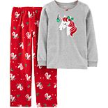 Girls 4-14 Carter's Christmas Fleece Top & Bottoms Pajama Set