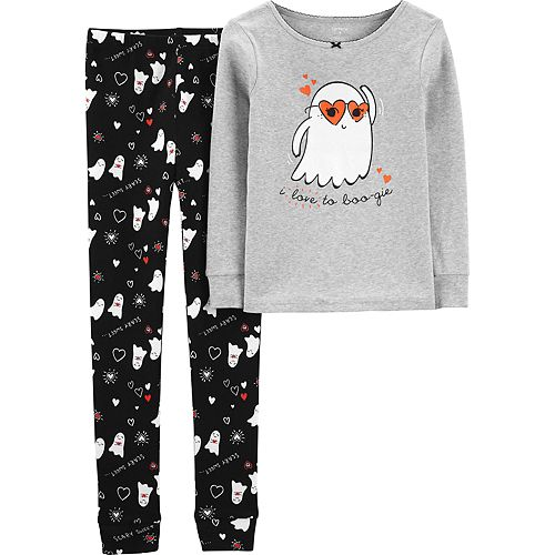 Girls 4-14 Carter's Ghost Snug Fit Cotton Top & Bottoms Pajama Set