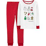 Girls 4-14 Carter's Winter Snug Fit Cotton Top & Bottoms Pajama Set