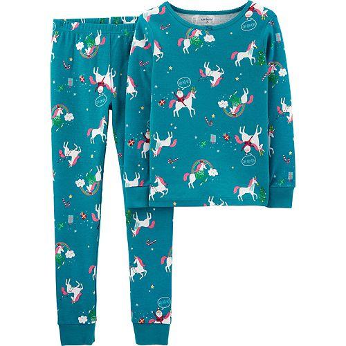 Girls 4-14 Carter's Winter Snug Fit Cotton Top & Bottoms Pajama Set
