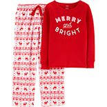 Girls 4-14 Carter's 2-Piece Thermal & Fleece Christmas Pajamas