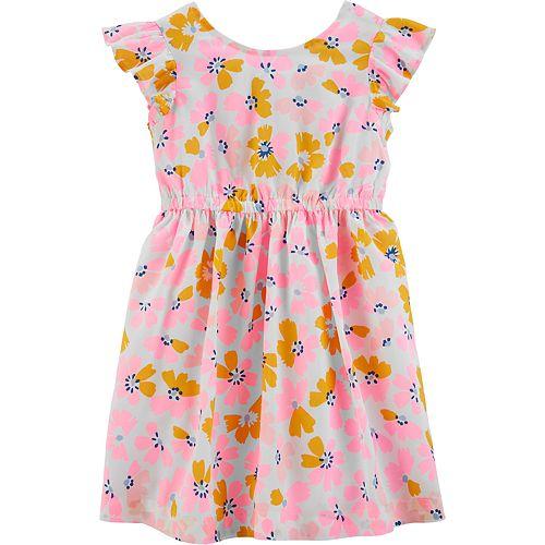 Toddler Girl Carter's Floral Bow Dress