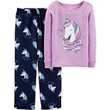Girl's 4-14 Carter's 2-Piece Unicorn Cotton & Poly PJs