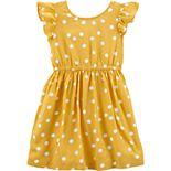 Toddler Girl Carter's Polka Dot Bow Dress