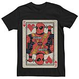Men's Marvel Deadpool King Of Hearts Playing Card Tee