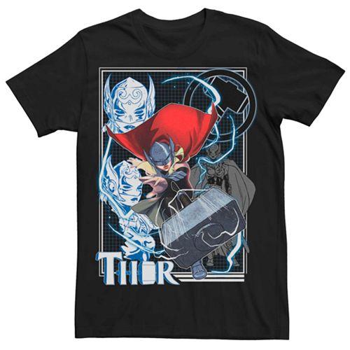 Men's Marvel Thor Jane Foster Hammer Throw Action Tee