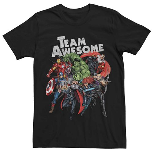 Men's Marvel Avengers Group Team Awesome Tee
