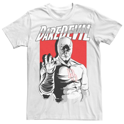 Men's Marvel Daredevil Comic Sketch Devil Tee