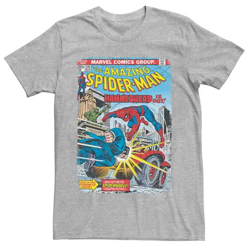 Men's Marvel Spider-Man Hammerhead Comic Book Cover Tee