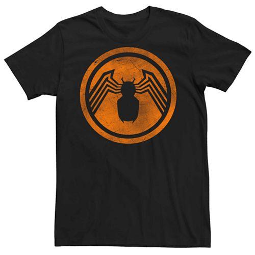 Men's Marvel Venom Orange Chest Logo Tee