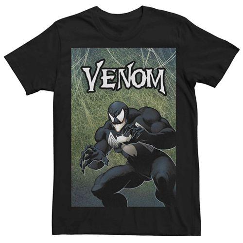 Men's Marvel Venom Sneaky Cover Poster Tee