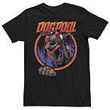 Men's Marvel Deadpool Dogpool Comic Splatter Tee