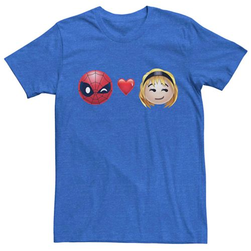 Men's Marvel Spider-Man Heart Gwen Stacy Emoji Tee