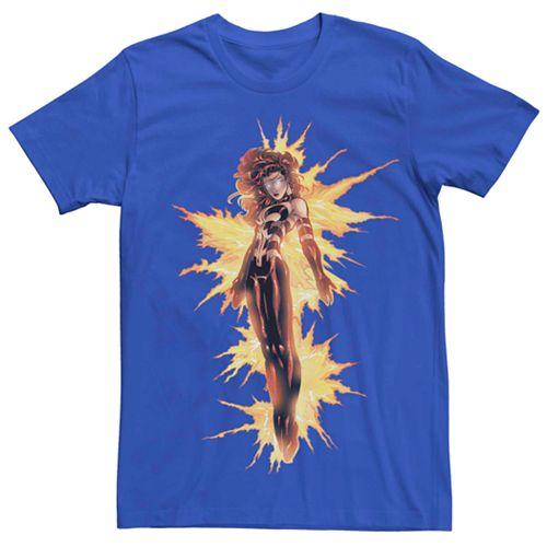 Men's Marvel Jean Grey On Fire Power Tee