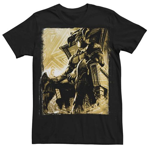 Men's Marvel Black Panther Throne Room Tee