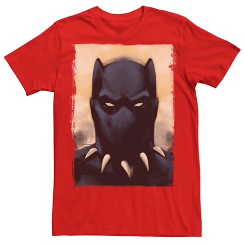 Men's Marvel Black Panther Painted Portrait Tee