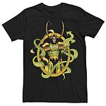 Men's Marvel Loki Comic Power Portrait Tee
