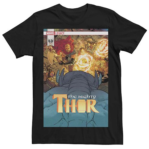 Men's Marvel Thor Legacy Cover Poster Tee