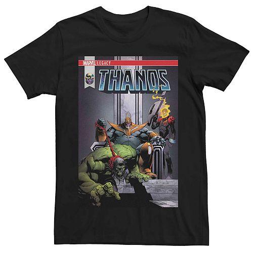 Men's Marvel Thanos Legacy Book Cover Tee