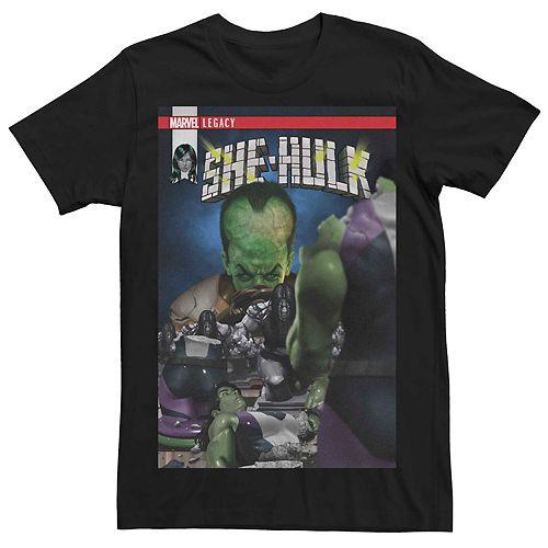 Men's Marvel Legacy She-Hulk Comic Book Cover Tee