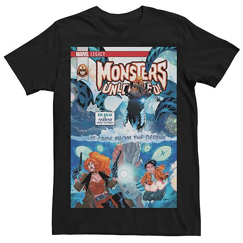 Men's Marvel Legacy Monsters Unleashed Comic Book Cover Tee