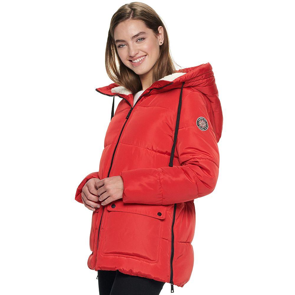 Juniors' madden NYC Nylon Sleeping Bag Puffer Jacket