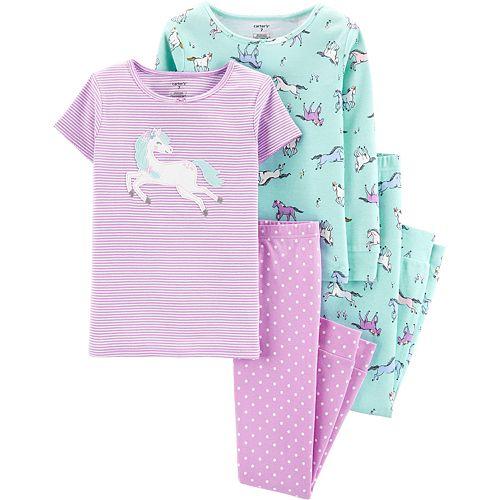 Girls' 4-14 Carter's 4-Piece Snug Fit Cotton Pajama Set