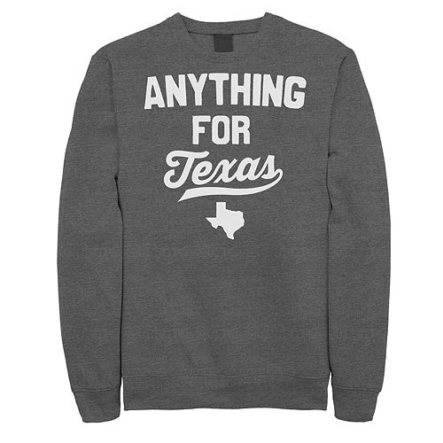 """Juniors' """"Anything For Texas"""" Fleece Graphic Top"""
