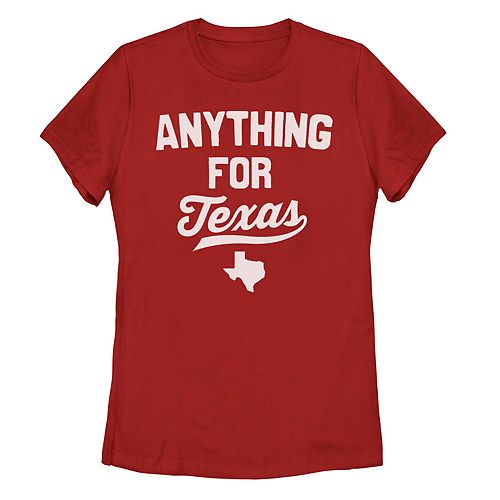 "Juniors' ""Anything For Texas"" Graphic Tee"
